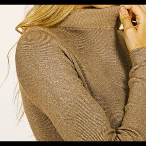 ❄️Pullover sweater,Turtleneck gold sweater